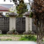 盛隆寺の戸川貫好・成斎父子の墓。