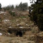 かつての敦賀街道は廃道になり、荒れた山中に口をあける春日野隧道。