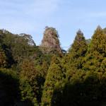 玉筍峯はひときわ目を引くユニークな岩塔。