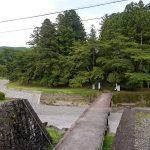 かつての参宮橋から見た旧社地の森。