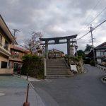 吉野山の銅(かね)の鳥居。この門前に拙堂は宿を取ったというから左の辰巳屋あたりか。この老舗旅館は残念ながら近年廃業。